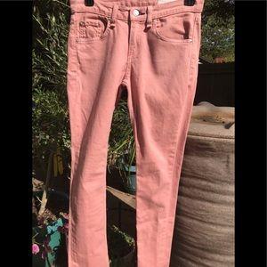 Rag and Bone Dusty Rose Skinny Jeans